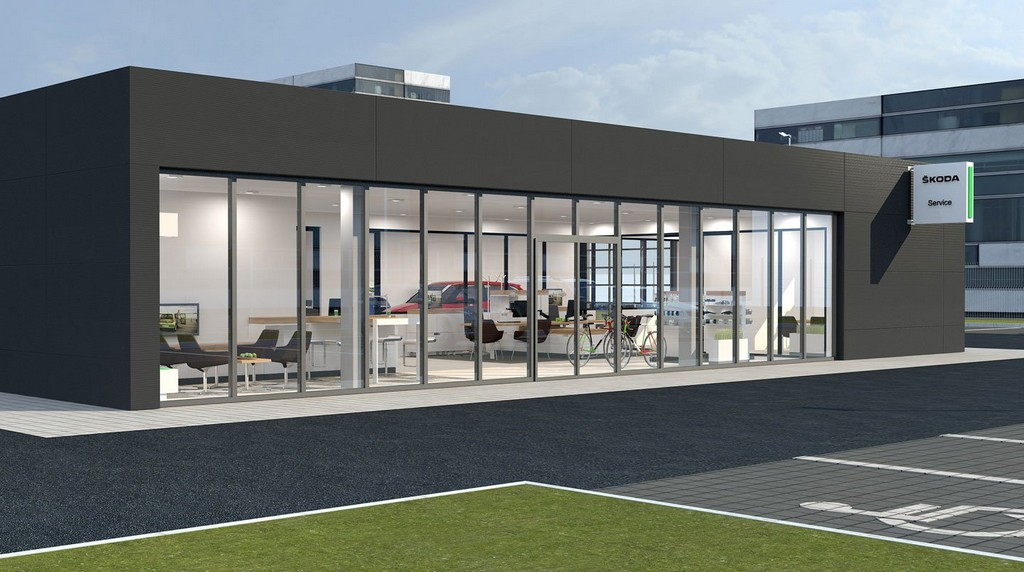 Skoda for Car showroom exterior design