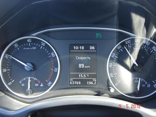 Соотношение скорости и оборотов двигателя шкода октавия а7