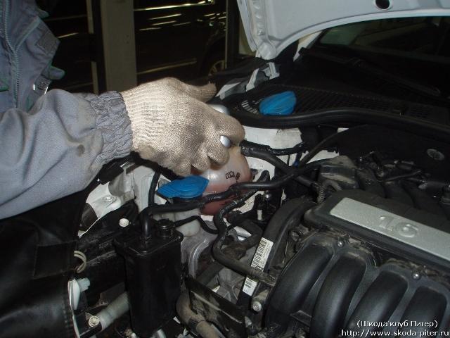 Замена масла в двигателе шкода октавия а5 16 mpi своими руками 53